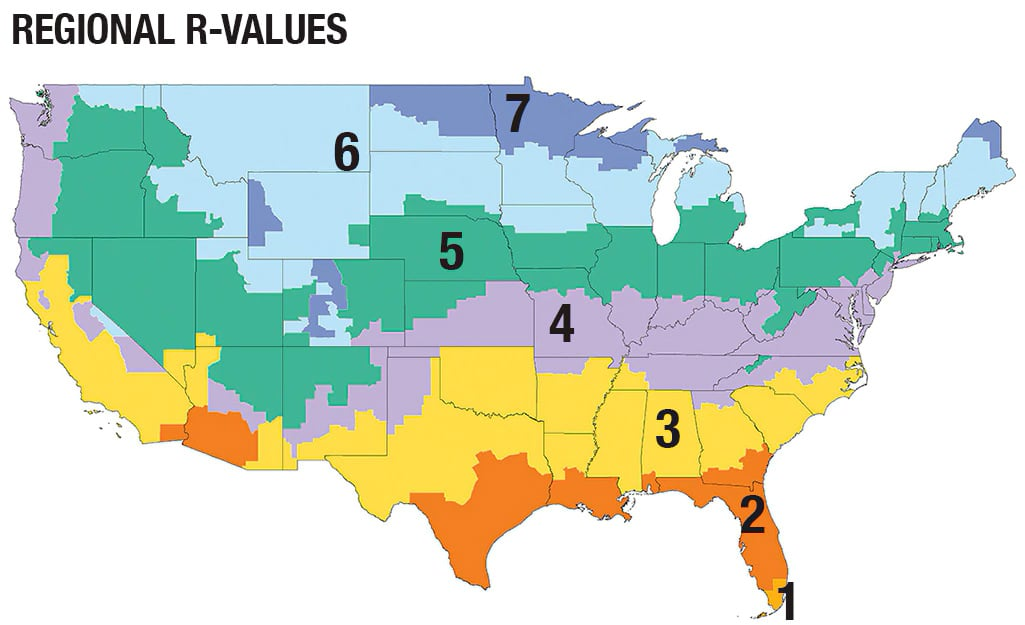 US Insulation R-Value Chart